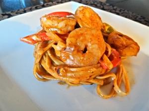 Shrimp Fajita Pasta