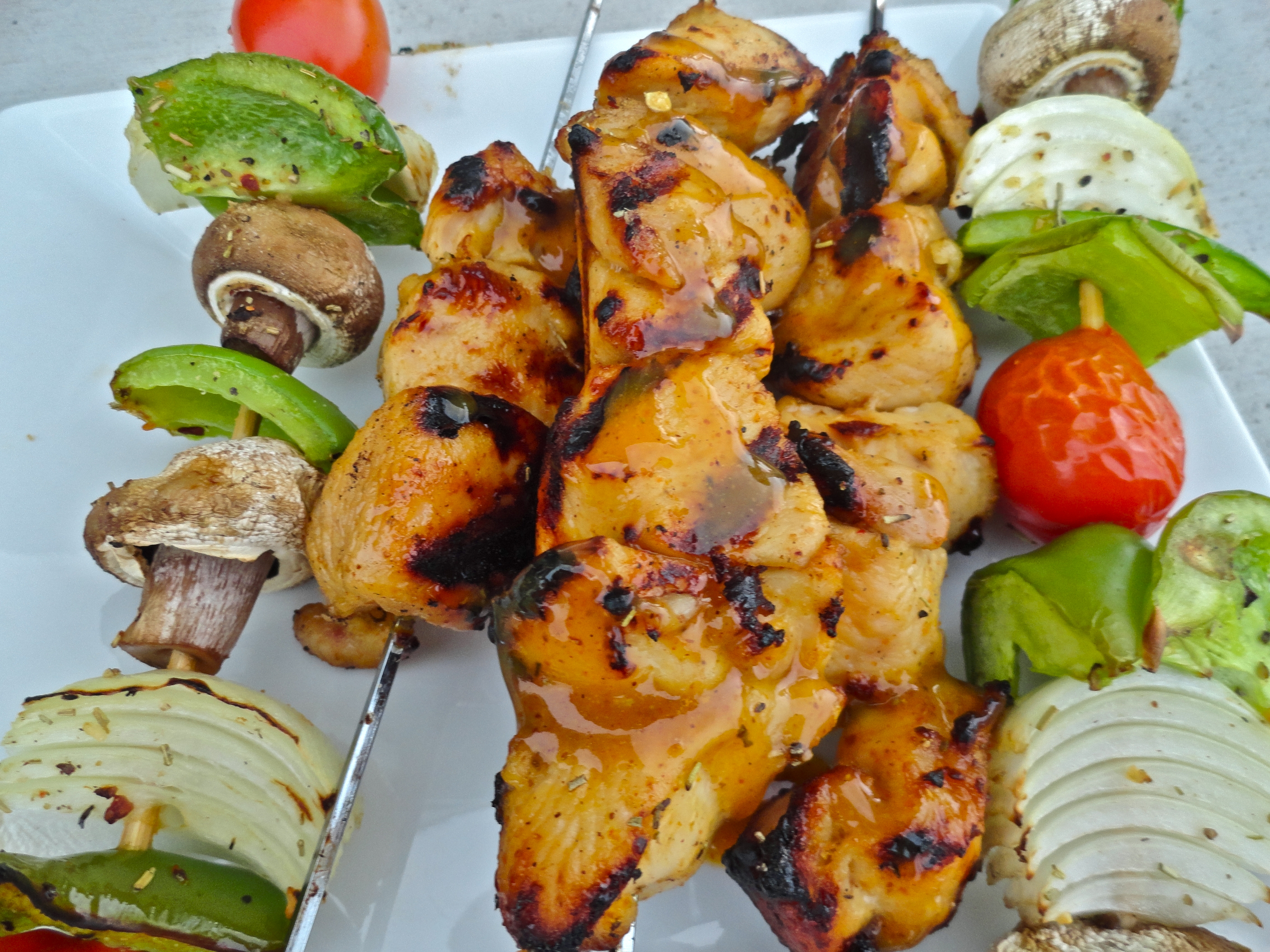 Honey Mustard Chicken Skewers