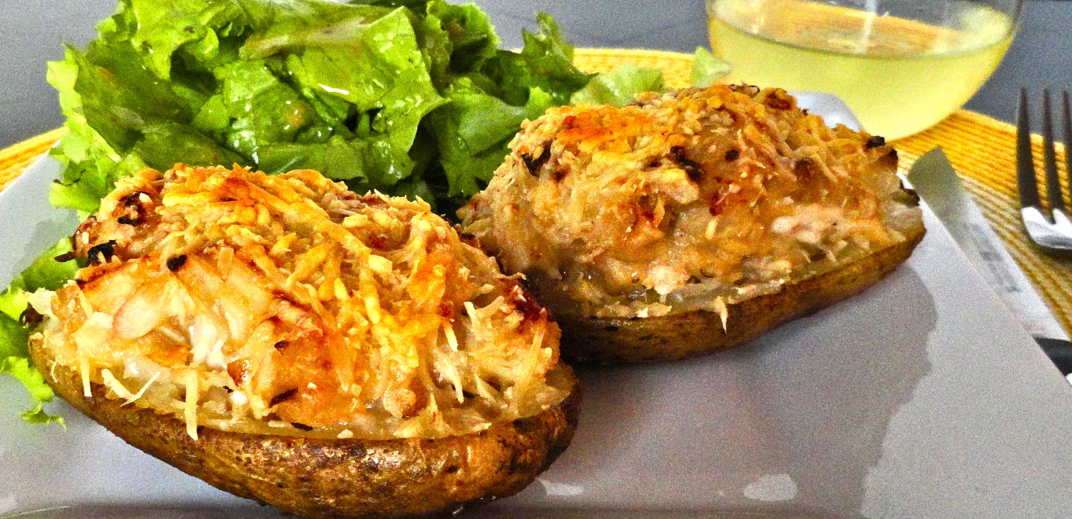 chicken stuffed potatoes