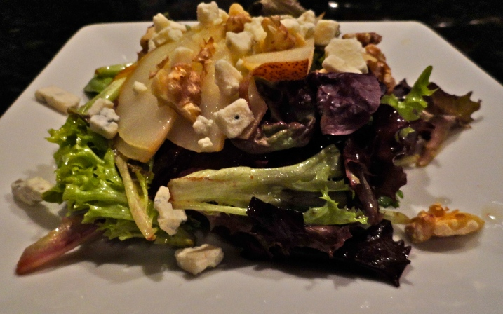 Roasted Pear Salad with Champagne Vinegairette