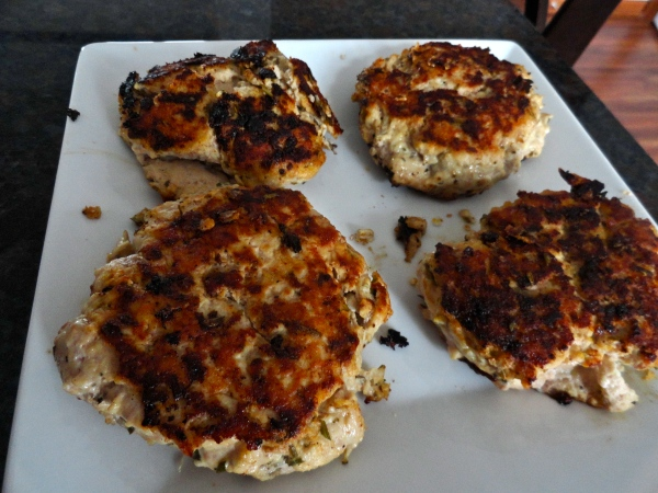 Rosemary Chicken Burgers with Garlic Rosemary Mayonnaise