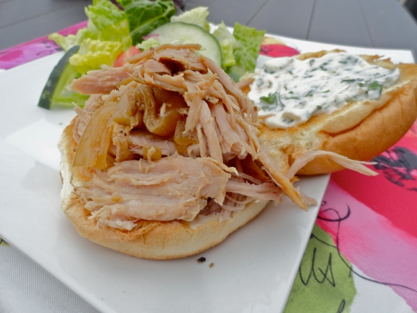 Slow Cooker Cuban Pork Sandwiches