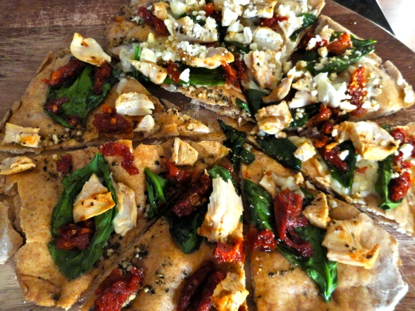 Herb Chicken Mediterranean Pizza