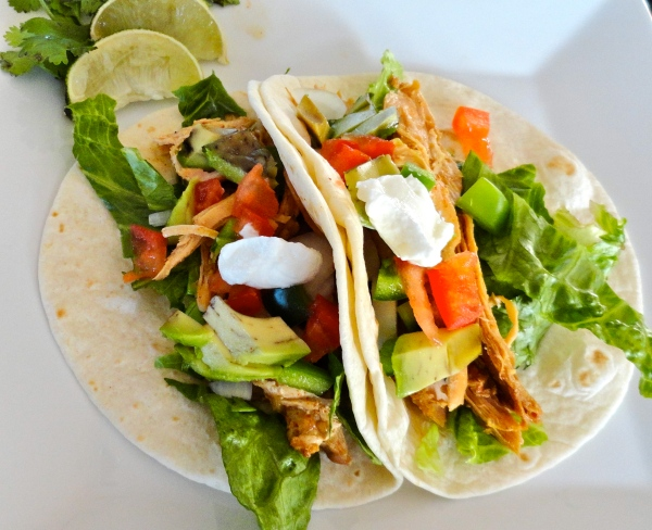 Slow Cooker Beergarita Chicken Tacos