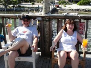 My parents enjoying panty rippers at the Palapa Bar