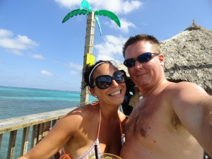 Nate and I having fun in the sun at the Palapa Bar
