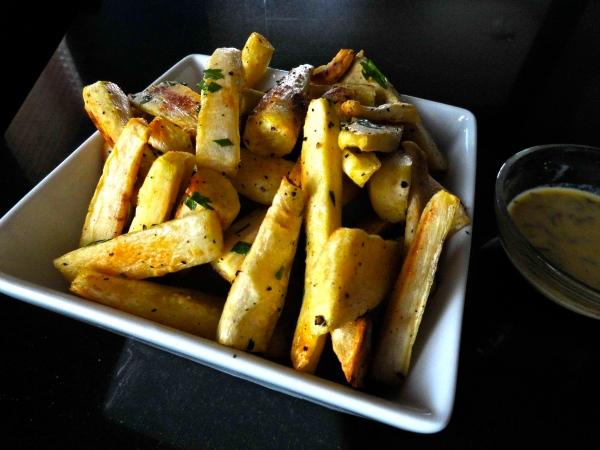 Roasted Parsnips with Mustard Vinaigrette