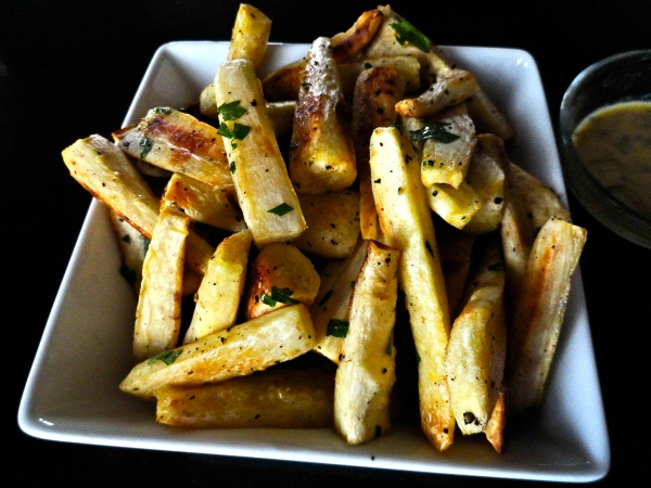 Roasted Parsnips with Mustard Vinaigrette