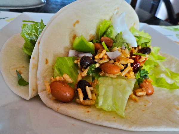 Spicy Bean and Rice Taco