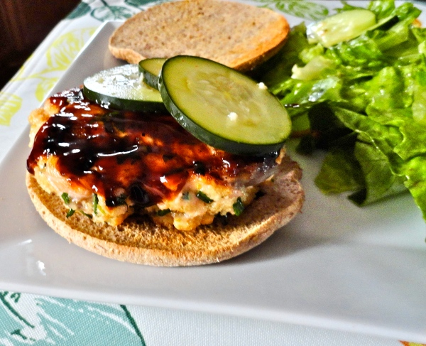 Hoisin Glazed Salmon Burgers