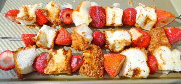 Grilled Strawberry Shortcake Kabobs