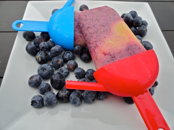 Blueberry Peach Popsicle
