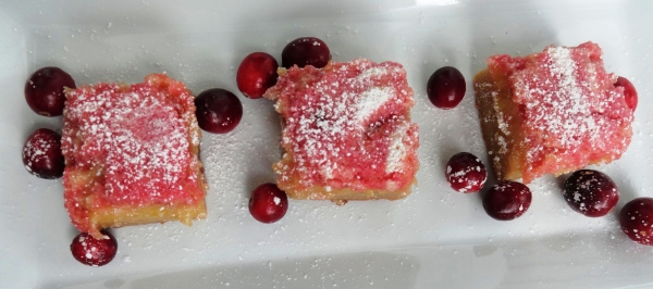 Lemon-Cranberry Pie Bars