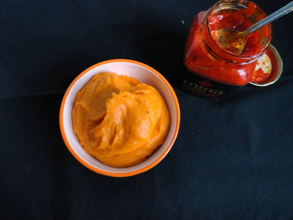 Harissa Whipped Sweet Potatoes