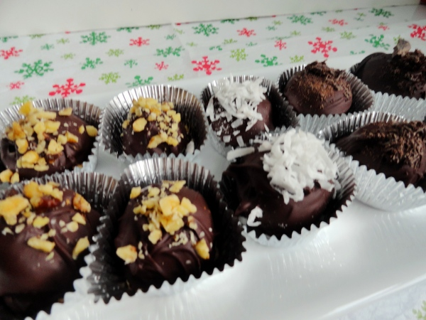 Chocolate Dipped Brazilian Truffles