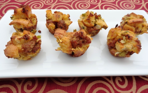 Sausage and Apple Stuffing bites