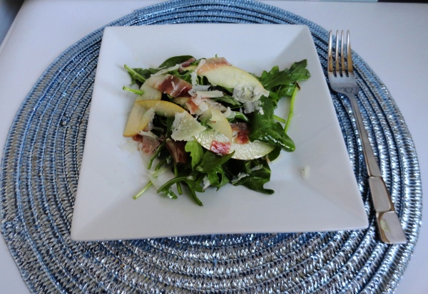Arugula and Apple Salad with Serrano Ham and Manchego Cheese