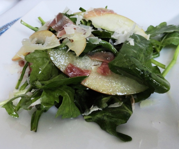 Arugula, Apple and Serrano Ham Salad with Cidar Vinaigrette