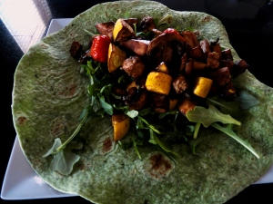 Balsamic Roasted Vegetable Wrap