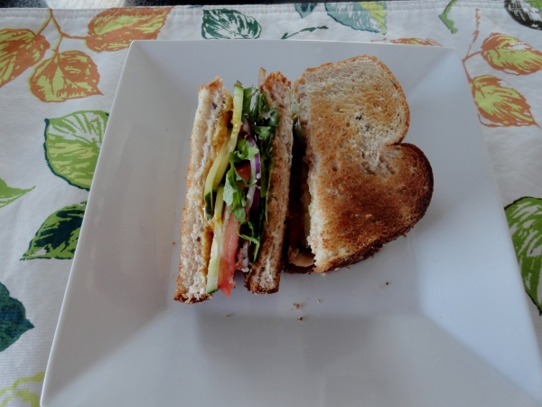 Supreme Hummus Sandwich
