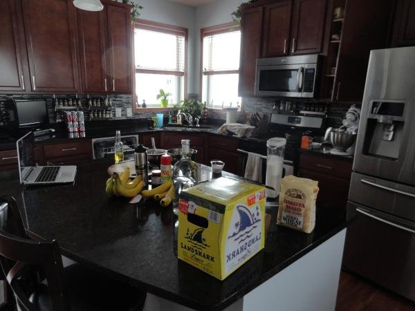 My kitchen while working