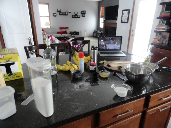 Seemingly kitchen in disaray