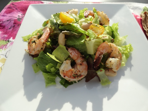 Grilled Shrimp Salad with Chimichurri