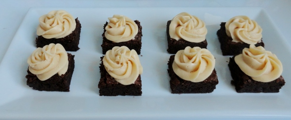 Chocolate Brownies with Salted Caramel Buttercream