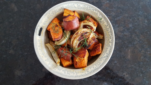 Pan Roasted Sweet Potatoes